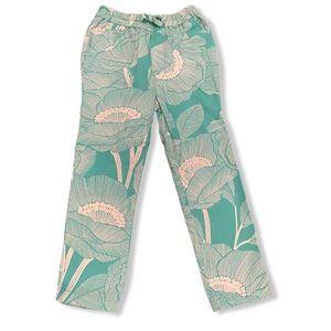 Baby Gap- 100% Cotton Green/White Floral Pants 4T